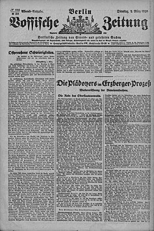 Vossische Zeitung vom 02.03.1920