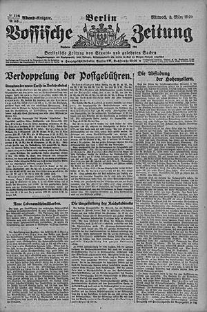 Vossische Zeitung vom 03.03.1920