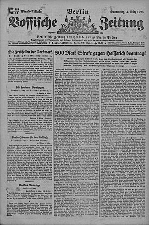 Vossische Zeitung vom 04.03.1920