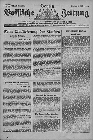 Vossische Zeitung on Mar 5, 1920