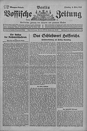 Vossische Zeitung vom 09.03.1920