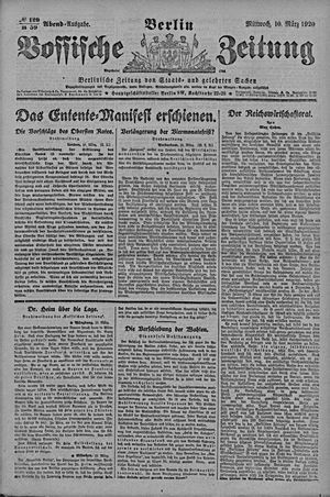 Vossische Zeitung vom 10.03.1920