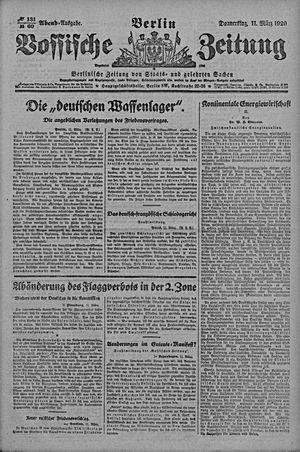 Vossische Zeitung vom 11.03.1920