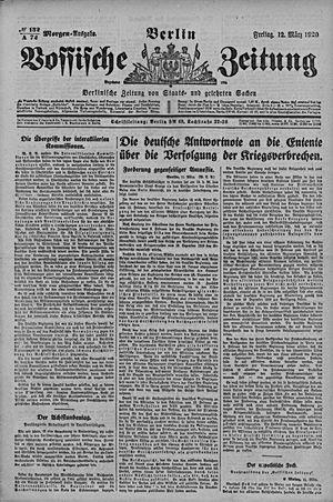 Vossische Zeitung vom 12.03.1920