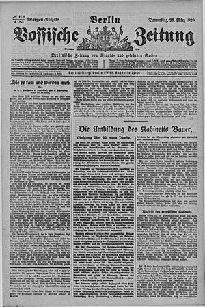 Vossische Zeitung vom 25.03.1920