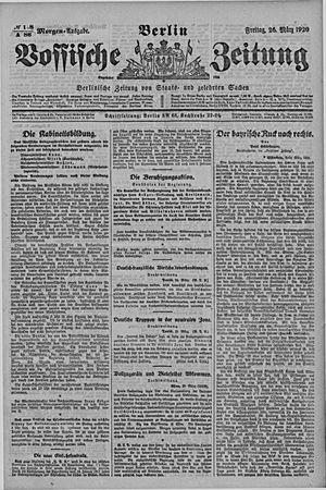Vossische Zeitung vom 26.03.1920