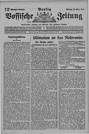 Vossische Zeitung vom 29.03.1920