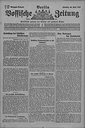 Vossische Zeitung vom 30.03.1920