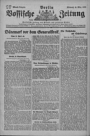 Vossische Zeitung vom 31.03.1920