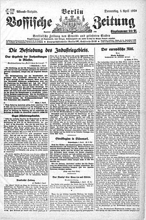 Vossische Zeitung vom 01.04.1920