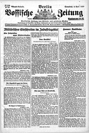 Vossische Zeitung vom 03.04.1920