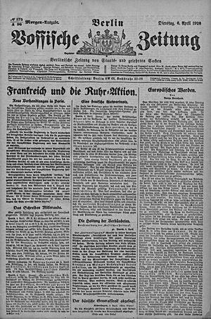 Vossische Zeitung vom 06.04.1920