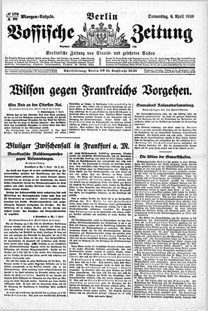 Vossische Zeitung vom 08.04.1920