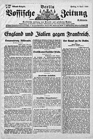Vossische Zeitung vom 09.04.1920