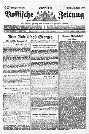 Vossische Zeitung vom 12.04.1920