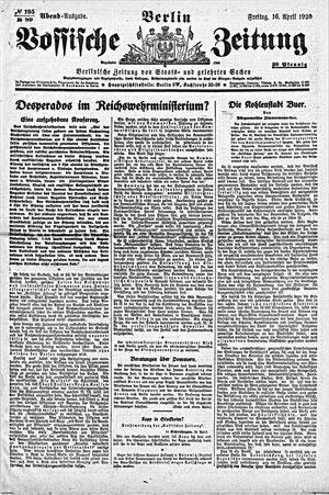 Vossische Zeitung vom 16.04.1920