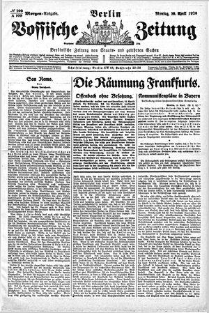 Vossische Zeitung vom 19.04.1920