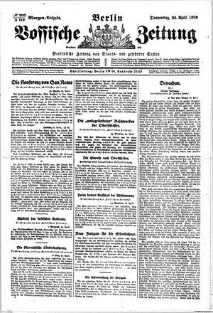Vossische Zeitung vom 22.04.1920