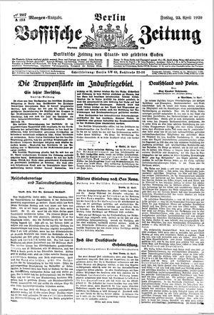 Vossische Zeitung vom 23.04.1920