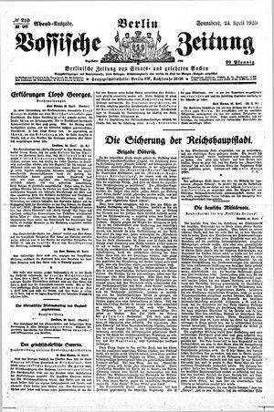 Vossische Zeitung vom 24.04.1920