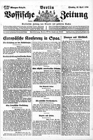Vossische Zeitung vom 27.04.1920