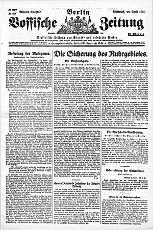Vossische Zeitung vom 28.04.1920