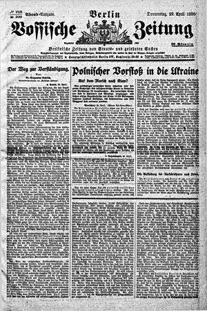 Vossische Zeitung vom 29.04.1920