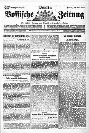 Vossische Zeitung vom 30.04.1920