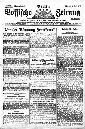 Vossische Zeitung vom 03.05.1920