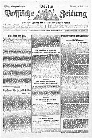 Vossische Zeitung vom 04.05.1920