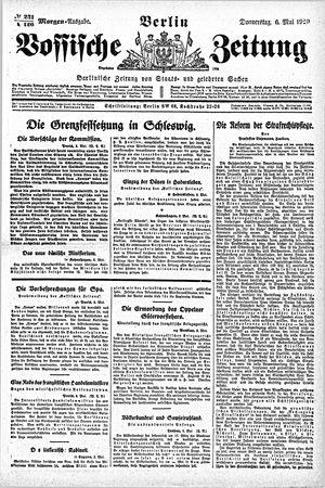 Vossische Zeitung vom 06.05.1920