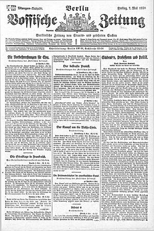 Vossische Zeitung vom 07.05.1920