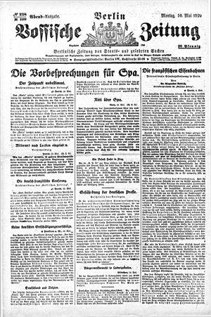 Vossische Zeitung vom 10.05.1920