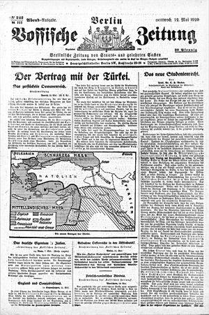 Vossische Zeitung on May 12, 1920