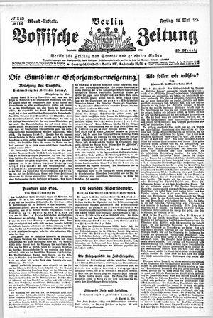Vossische Zeitung vom 14.05.1920