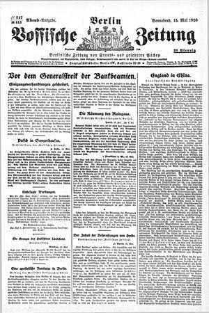 Vossische Zeitung vom 15.05.1920