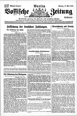 Vossische Zeitung vom 17.05.1920