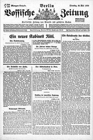 Vossische Zeitung vom 18.05.1920