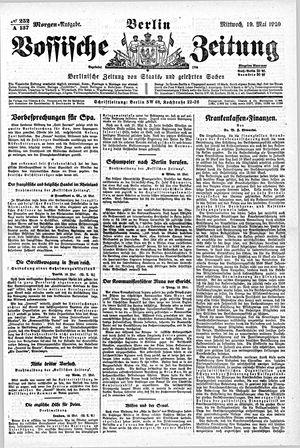 Vossische Zeitung on May 19, 1920