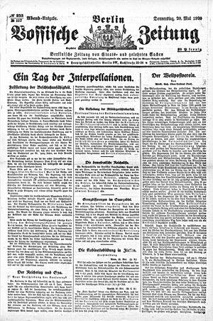 Vossische Zeitung vom 20.05.1920