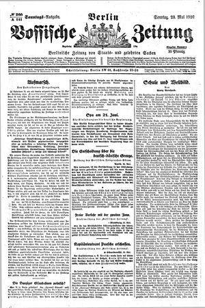 Vossische Zeitung vom 23.05.1920