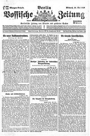 Vossische Zeitung vom 26.05.1920