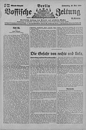 Vossische Zeitung vom 27.05.1920