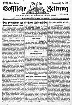 Vossische Zeitung vom 29.05.1920