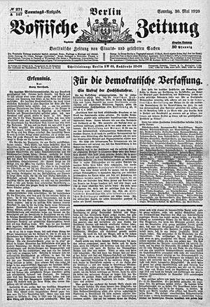 Vossische Zeitung vom 30.05.1920