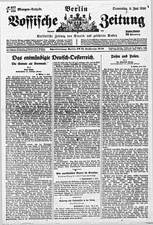 Vossische Zeitung vom 03.06.1920