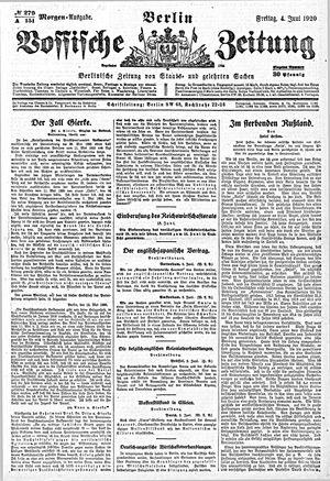 Vossische Zeitung vom 04.06.1920