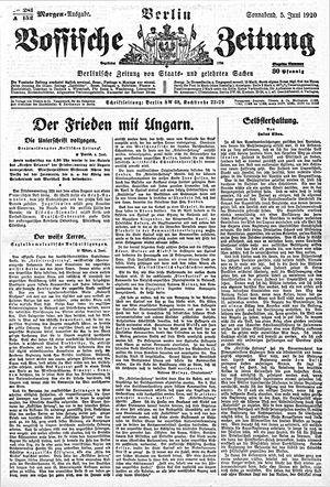 Vossische Zeitung vom 05.06.1920