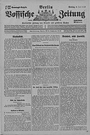 Vossische Zeitung vom 06.06.1920