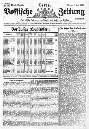 Vossische Zeitung on Jun 7, 1920